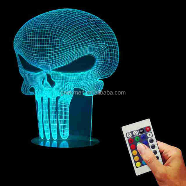 Lampe 3D Punisher