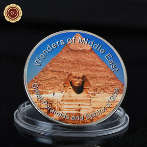 WR Great Pyramids and Sphinx of Giza Commemorative Silver Plated Coin Customized Middle East Design Challenge Coin