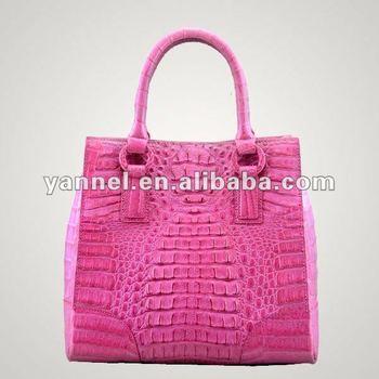 Customized Real Crocodile Leather Lady Bags Skin Shoulder Handbag
