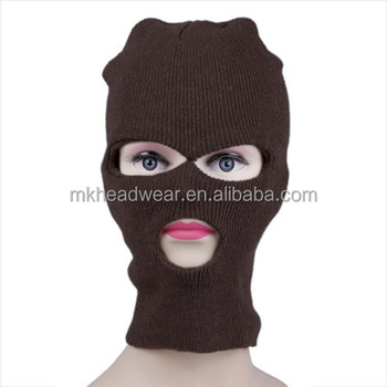 3 Hole Knitted Face Mask Hat Ski Army Stocking Winter Cap Beanie Hood 24e4e8ee9e0b