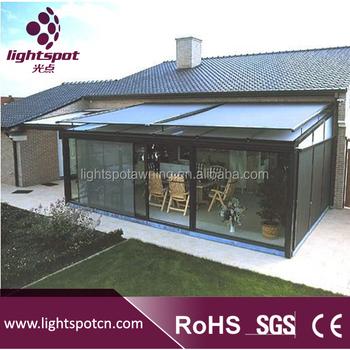de aluminio al aire libre de acero patio sol motorizado techo toldo