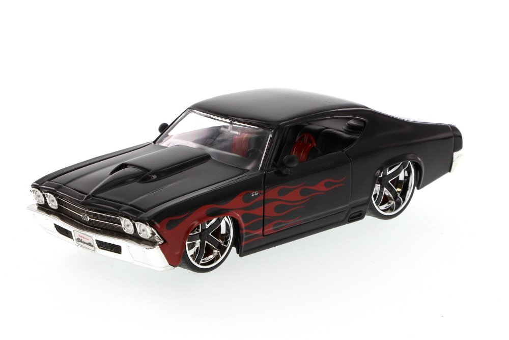 1969 Chevy Chevelle SS, Black - Jada Toys Bigtime Muscle 90213 - 1/24 scale Diecast Model Toy Car