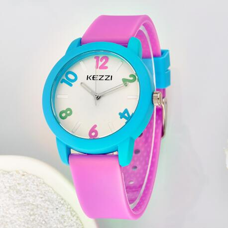 alibaba express high quality charming children kezzi brand silicone watch