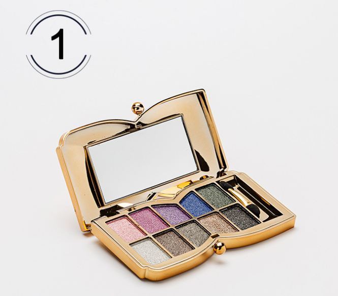 Wholesale private label colorful shimmer eye shadow 10 colors magnetic makeup eyeshadow palette
