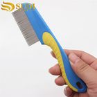 Stainless Steel-Pin Flea Lice Comb for Pet Dogs Cats Plastic Handle animal comb
