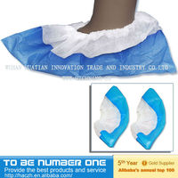 Disposable non-woven shoe cover,blue,waterproof,non-skid