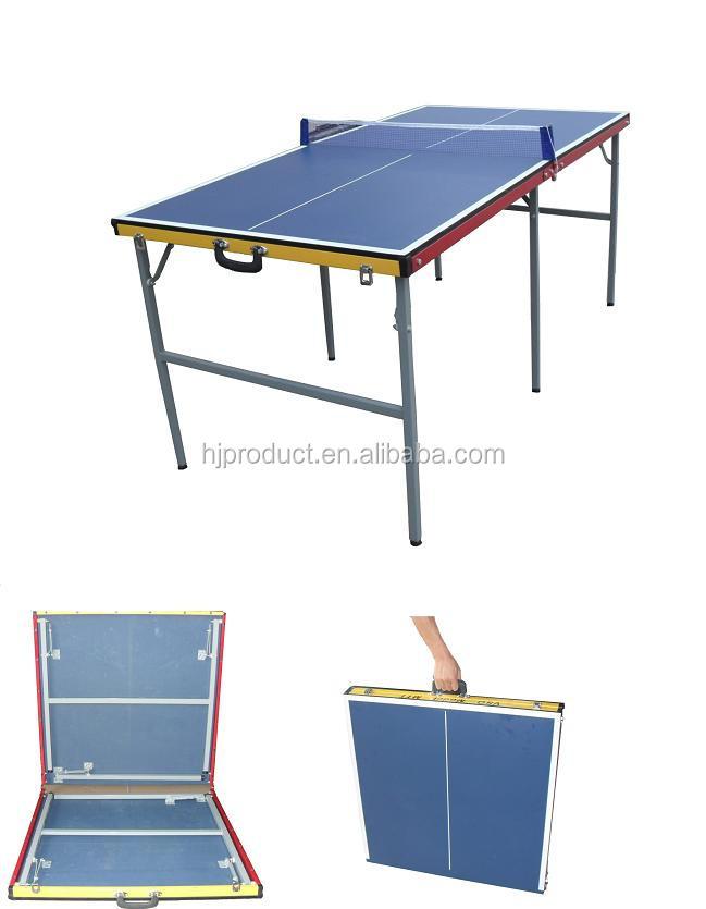 Protable Mini Table Tennis Table For Sale, Suitcase Table Tennis Table,  Mini Pingpong Table