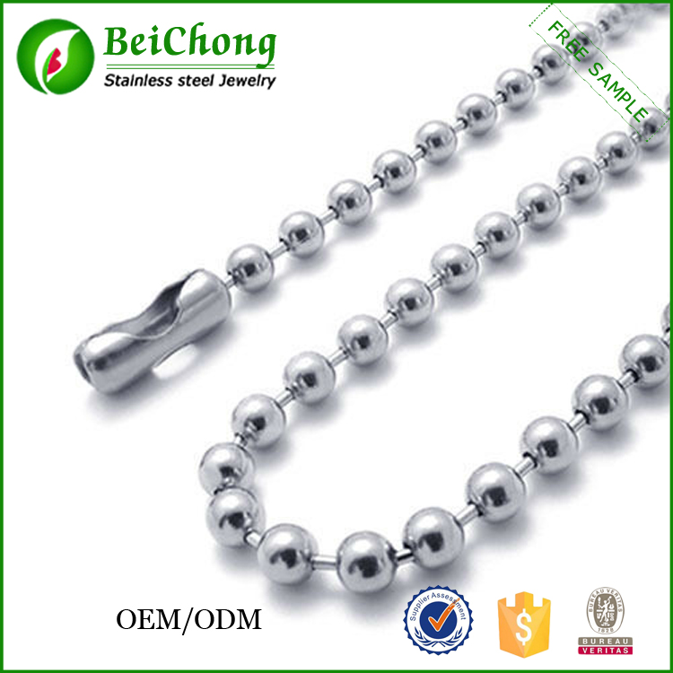 Cheap accessories stainless steel link ball chain