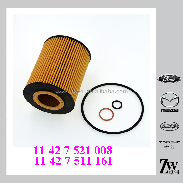 Auto Oil Filter element replacement for BMW E36I(316i) E46 (318I) 2010 , Part NO. #11 42 7 511 161 ,11427511161