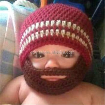 Winter Knitted Beard Beanie Cute Handmade Crochet Boy Hat - Buy ... a43b7cbcf6a