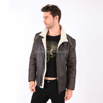 7f1970fa Fashion Outdoor Wear Leather Jackets Men Faux Fur Coat White ...