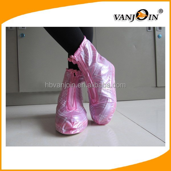 Knee Boot Type and Spring,Winter Season rain boots shoe cover high elastic PVC