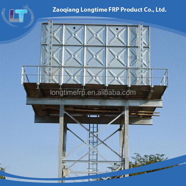 Water Storage Tanks >> 50m3 Elevated Steel Water Tank Steel Structure Water Storage Tank