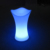 Modern Plastic  Led lighting irregular Bar stool bar chair