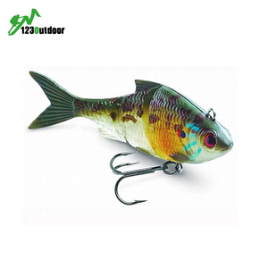 Metal Joint Hard Plastic Bait Perch Pike Musky Trout Fishing Lure