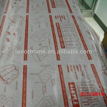 pvc with paper printed backing tablecloth in roll