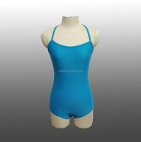 MBQ479 Sexy adult green lycra blue lace dance leotard
