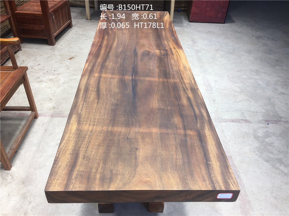 Qualities Solid Walnut Restaurant Furniture Wood Slab Dining Table