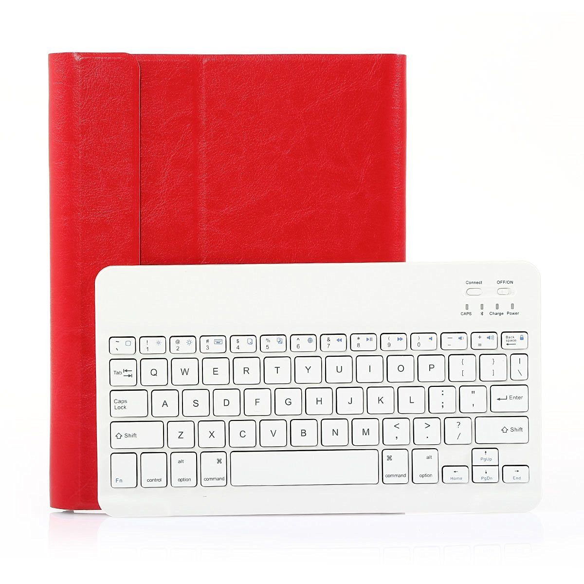 SymbolLife Thin Smart Cover with Bluetooth Removable Keyboard For Apple iPad 2 / 3/ 4 Generation, Red