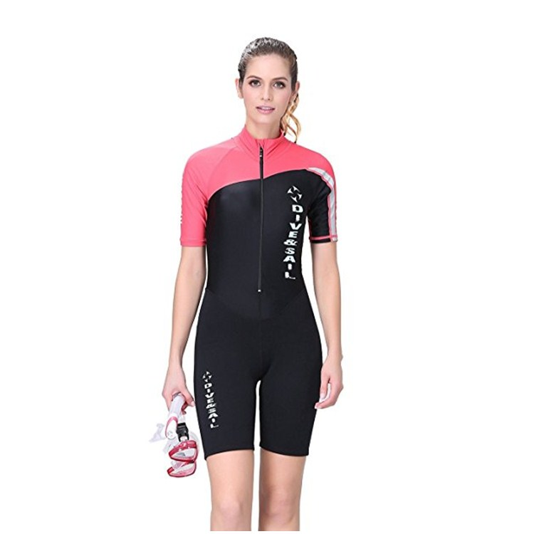 Durable Wetsuits One-piece Long&short Sleeve Swimwear for Woman&Men