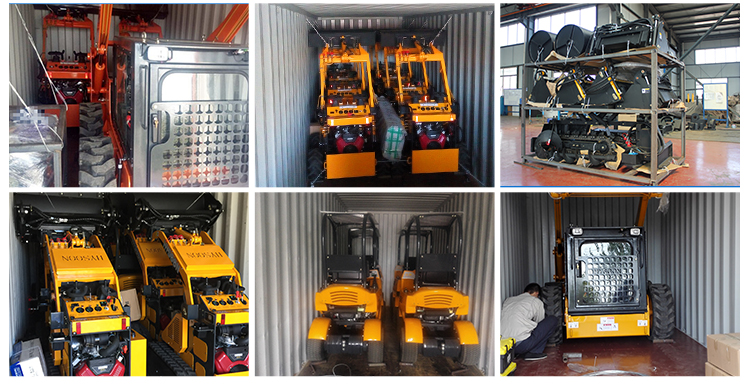 small road construction equipment and tools for Project ending