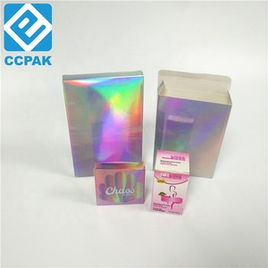 Jewellery packaging luxurious hologram paper box Cosmetic Facial Mask Box with Holographic foil LOGO