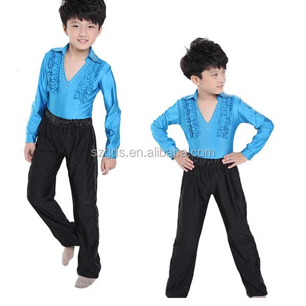 f3d172ecf Promotion fashion Long sleeve and pants children Ballroom Dance ...