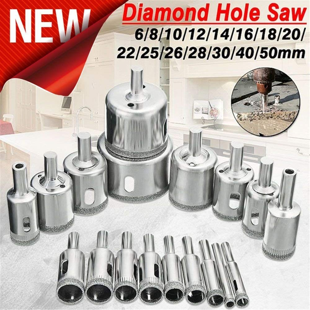 Get Quotations Diamond Drill Bits Set 15pcs Gl And Tile Hollow Core Extractor Remover Tools