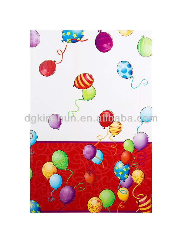 durable and disposable BIRTHDAY BALLOONS PLASTIC TABLE COVER