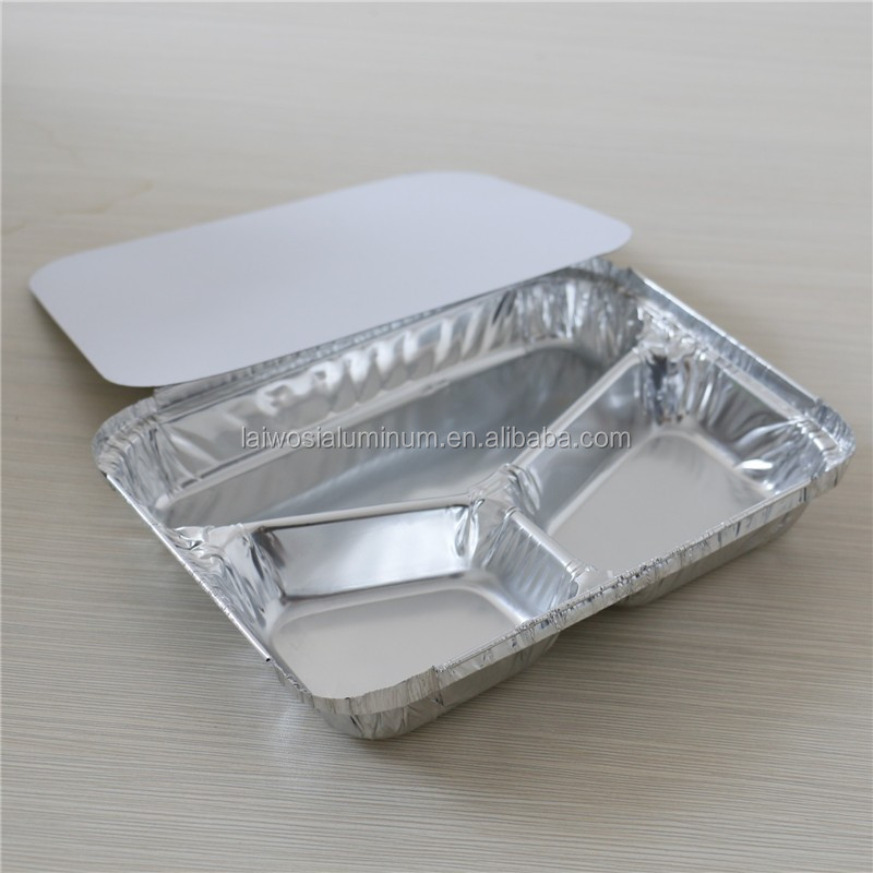Partition aluminum food container compartment aluminium for Cuisine aluminium