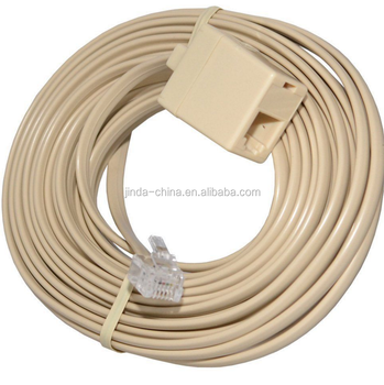 rj11 4c modular telephone extension phone cord cable line wire ivory