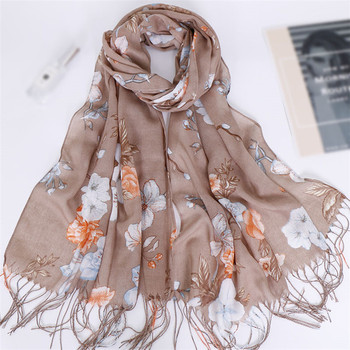 New fashion women floral viscose hijab cotton printed scarf wholesale