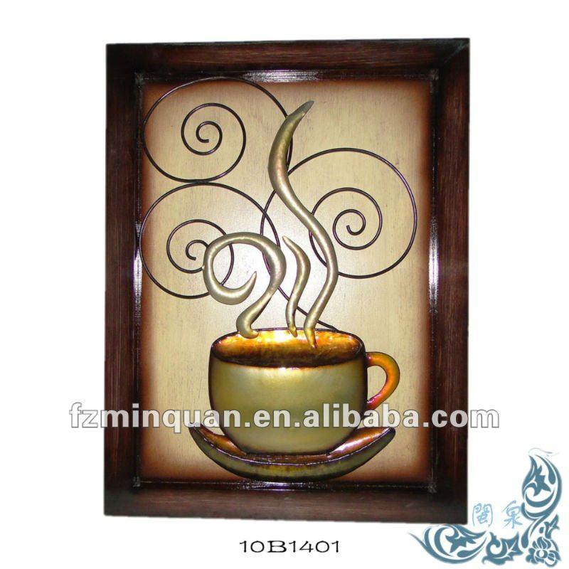 Tazas de caf de metal cocina decoraci n otros decoraci n for Decoracion con tazas de cafe
