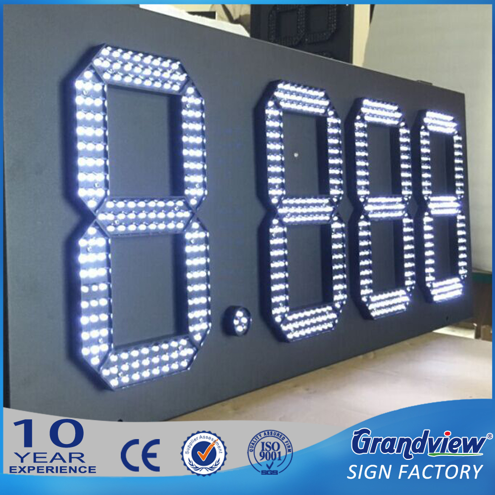 10 inch 88.88 white led digital numbers display boards