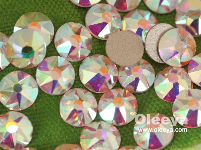 Free Sample Factory Loose Glass Strass Crystal AB Flatback Non Hot Fix Nail Art Rhinestones Manufacturer for Nail Art Decoration