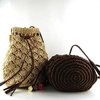 2019 Women's Simple and Fashionable Tassel Tote One-Shoulder Straw Woven Shoulder Bag Shopping Bags For Lady