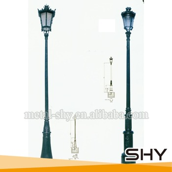 Outdoor Lamp Posts Cast Iron Street Light Pole Post Double Arm Product On
