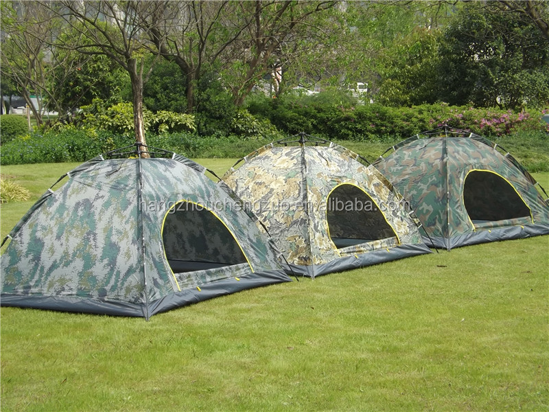 Hot Sale Automatic 2 Person Waterproof Easy Foldable Outdoor Camouflage Tent, CZE-006 Military Tent