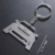Wholesale 3D Promotional sliver custom racing car shaped High quality stainless steel  keychains