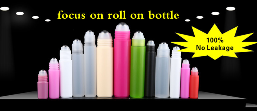 Fashion 15ml PETG bottle with roller ball and green empty plastic bottle 15ml for eye cream