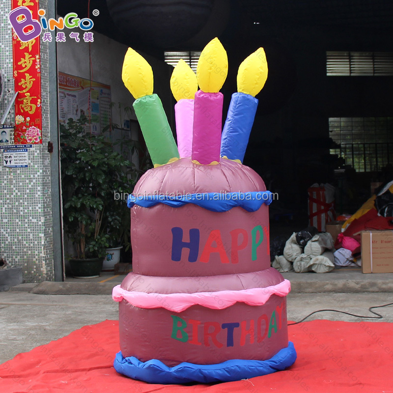 Excellent Happy Giant Inflatable Chocolate Birthday Cake With Candle Buy Funny Birthday Cards Online Fluifree Goldxyz