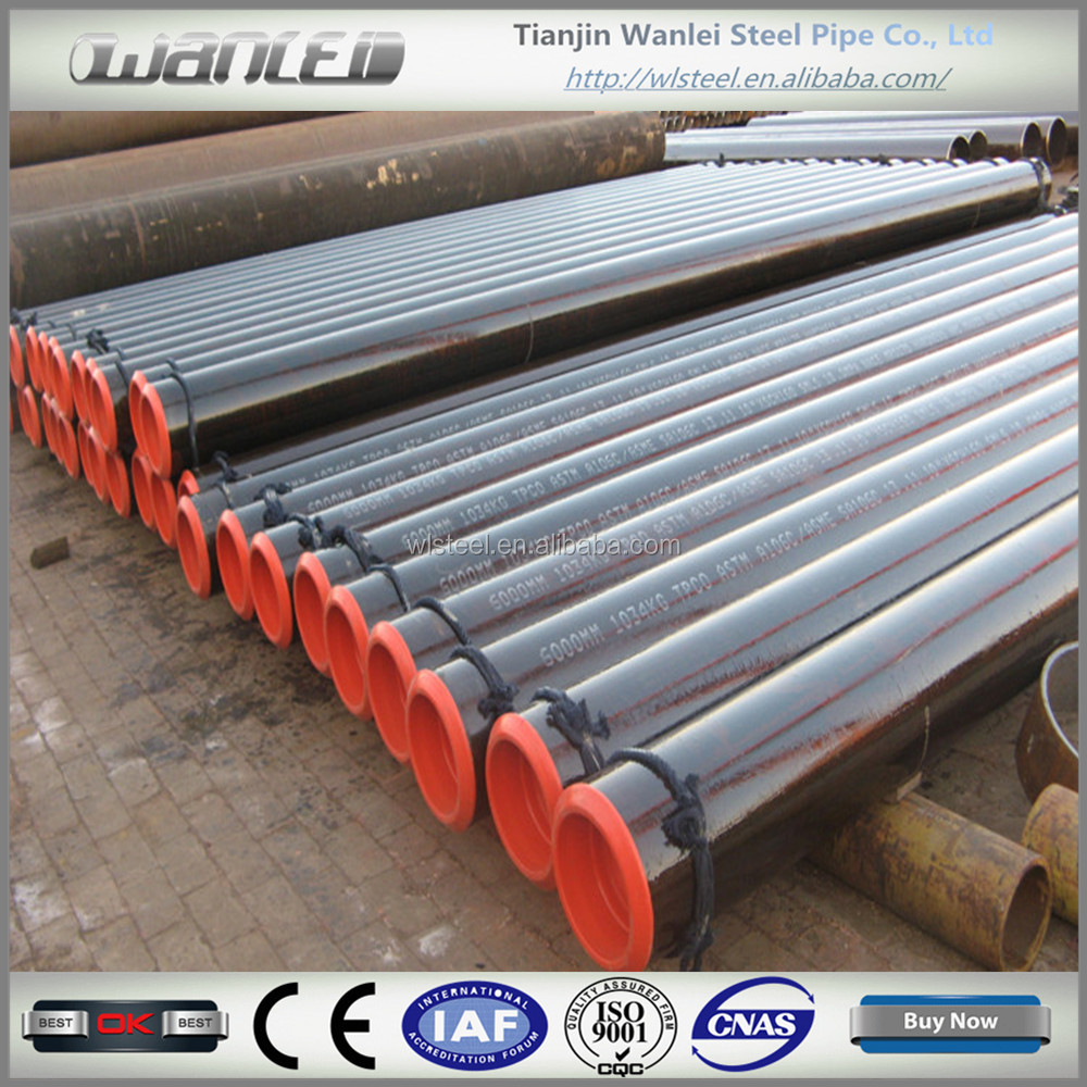 ASTM A106 grade b black carbon steel pipe with best price list