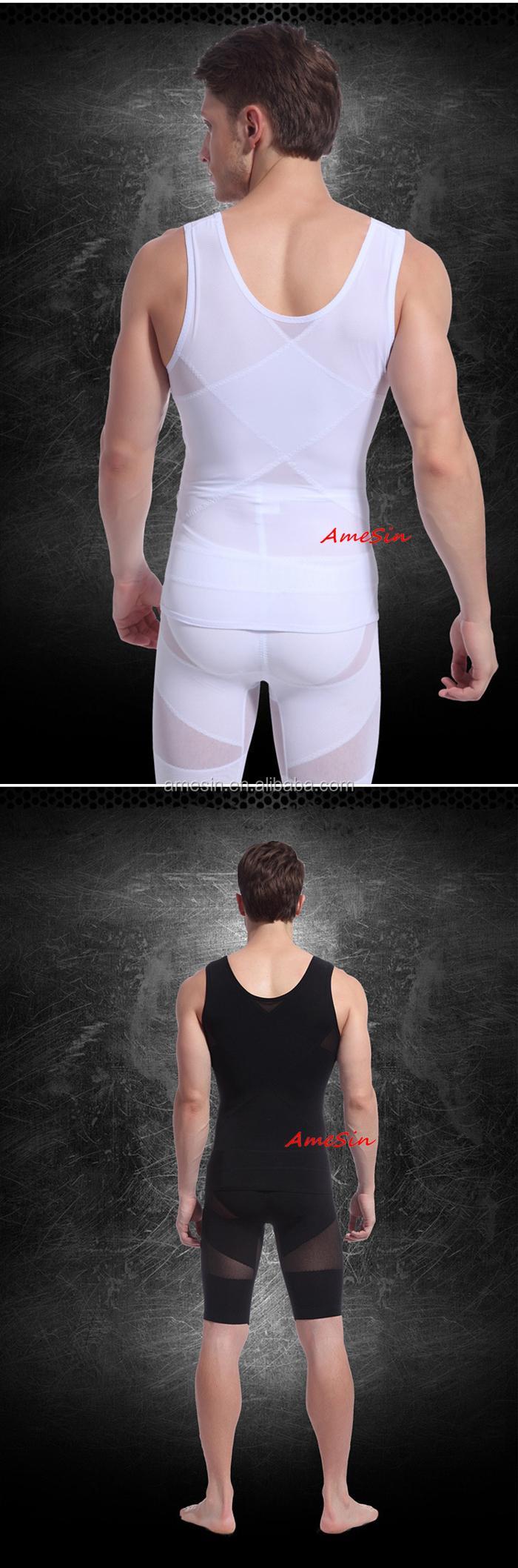 Sexy Body прозрачный похудеть Shaper для похудения жилет для мужчин