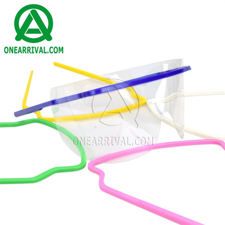 Comfortable to wear colored medical plastic eye shield