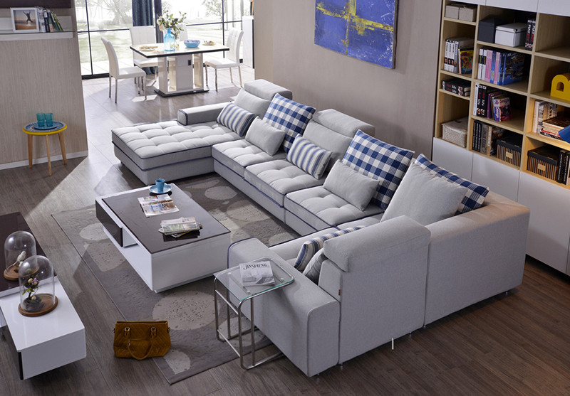 L Type Sofa Set Arabic Majlis Home Theater