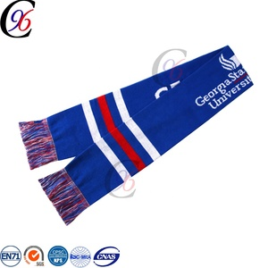 Chengxing brand world cup team display woven crochet fashion knitted fan winter scarf