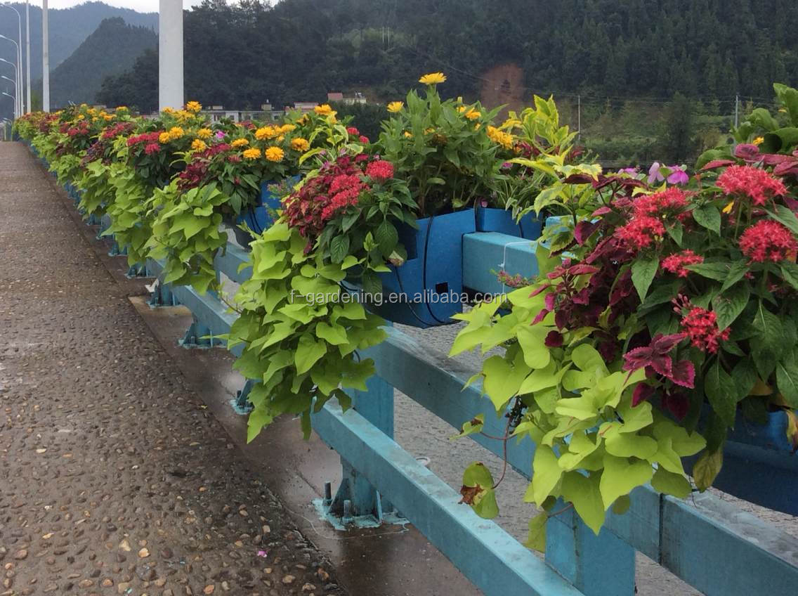 Vertical Garden Hydroponic Systems Hanging Fence Railing
