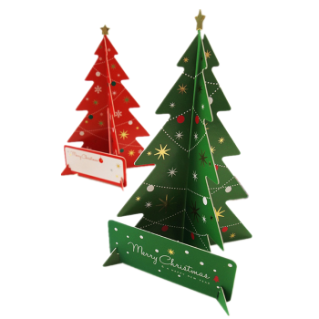 creative gift 3d pop up christmas tree decoration greeting handmade thank you cards