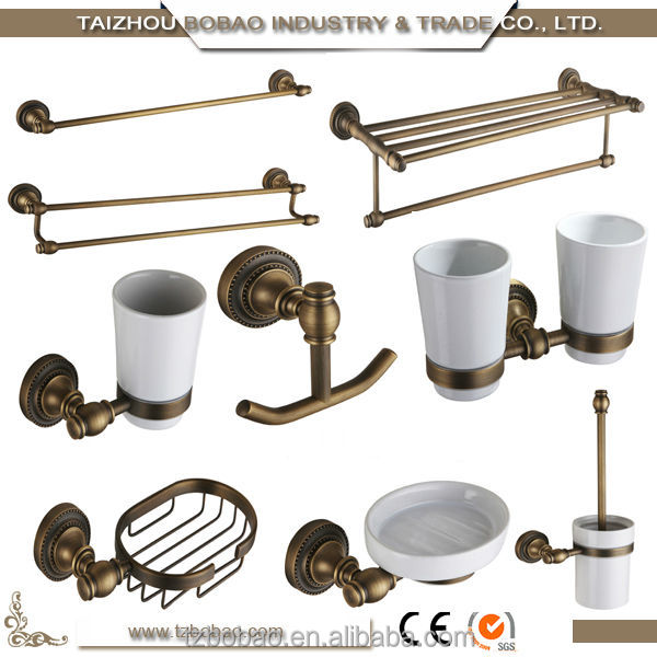hot sell rose golden antique bathroom accessories vintage bath hardware sets sanitary wares
