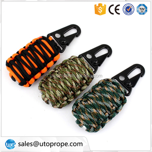 12pcs set outdoor survival paracord tools kit